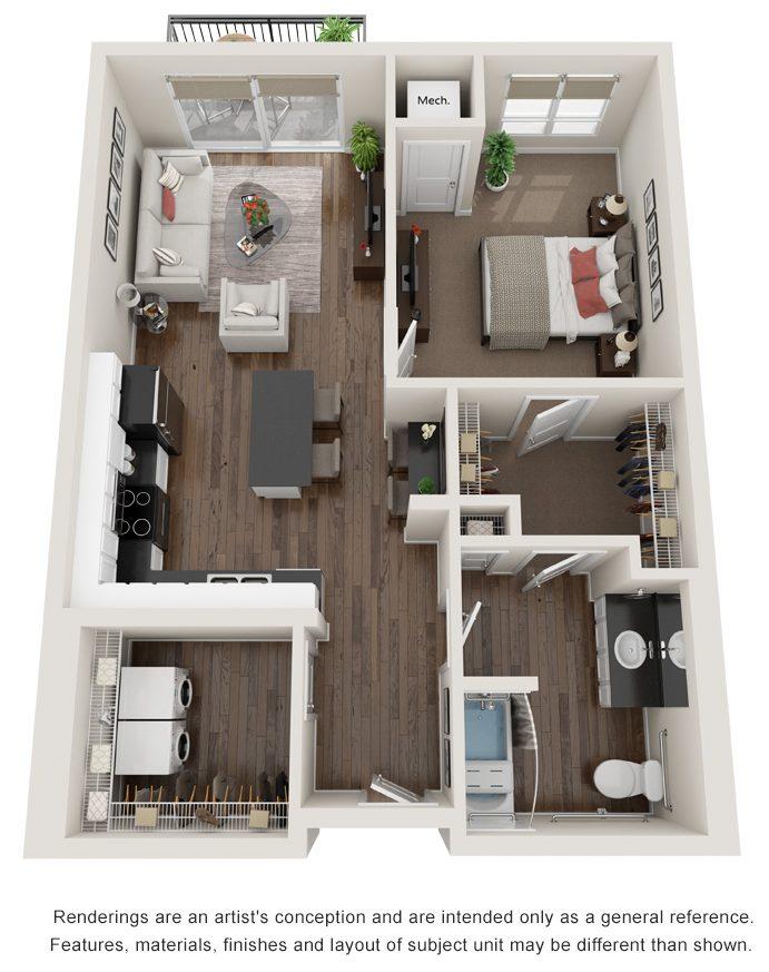 compass floor plan